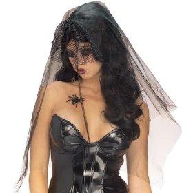 Gothic+sexy+widow+black+wig