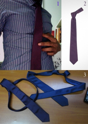 1. The River Island shirt 2. The Doce and Gabbana tie 3. The NEXT tie against The Dolce & Gabbana one