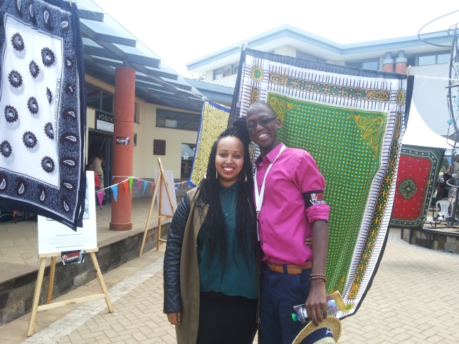 This is Warsan shire and I at The Storymoja Hay Festival sometime last week...