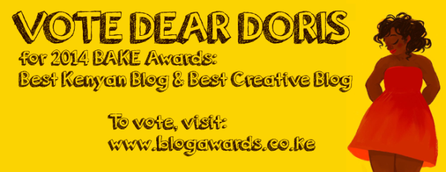 Have you voted for Dear Doris? Well ton on now... Click on the image to take you to the voting site.