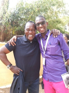 Jeff Koinange and I after he autographed my copy of Through my African Eyes.